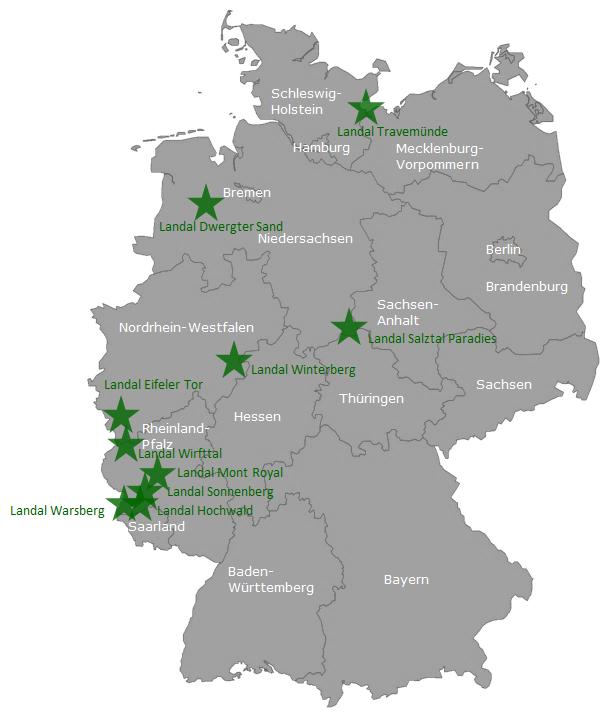 Landal Green Park Deutschland Karte