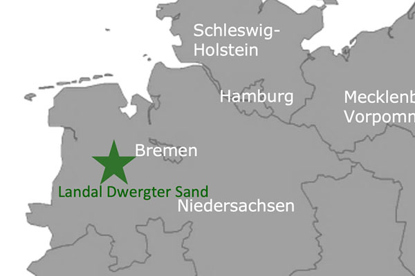 Landal GreenParks: Dwergter Sand - Oldenburger Münsterland Karte