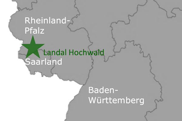 Der Landal GreenPark Hochwald Deutschland Karte