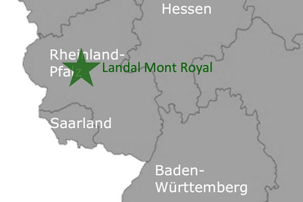 Landal Greenpark Mont Royalan der Mosel Karte