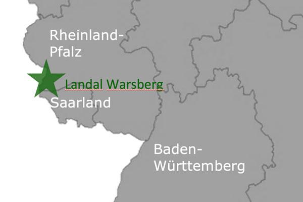 Landal GreenPark Warsberg Deutschland Karte