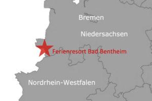 Ferienpark Roompot Bad Bentheim Deutschland Karte