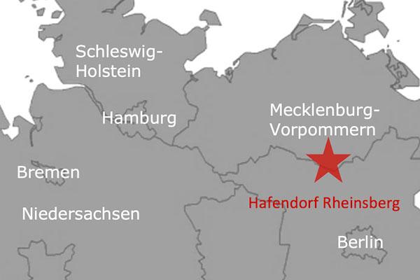Ferienpark Roompot Hafendorf Rheinsberg Deutschland Karte