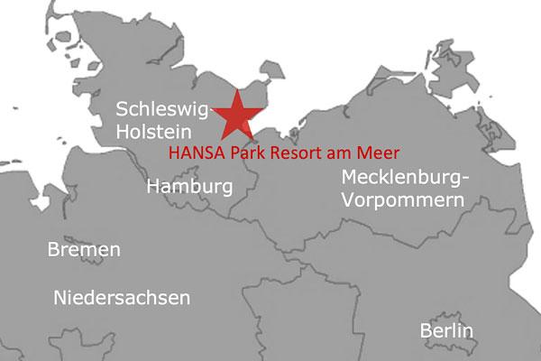 Ferienpark Roompot Hansa Park Deutschland Karte