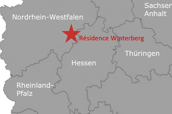 Roompot Résidence Winterberg Deutschland Karte