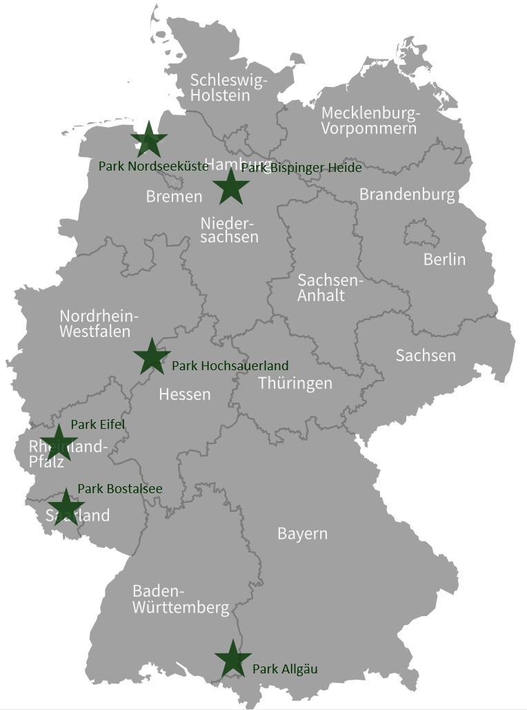 Die Center Parcs Deutschland Karte - Alle Parks auf einen Blick